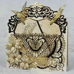 Golden Poinsettia Pocket