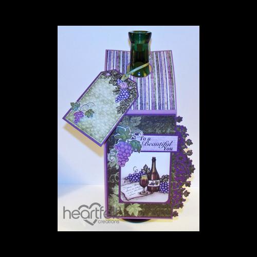 Grape Cluster Wine Bottle Gift Tag