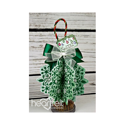Green Snowflake Ornament
