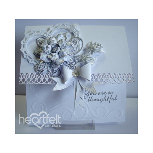 Heart Filled Silver Roses