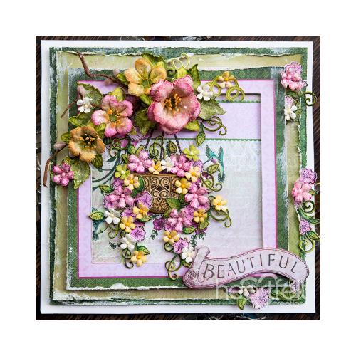 Hummingbird And Petunia Basket
