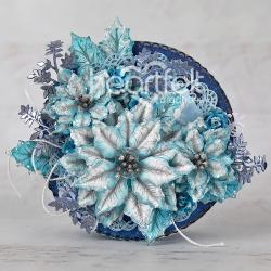 Icy Blue Poinsettia