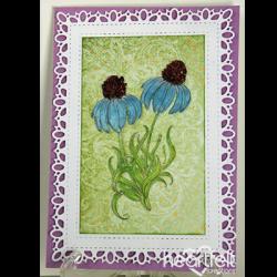 Intricate Blue Echinaceas