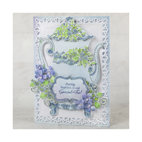 Intricate Floral Tea