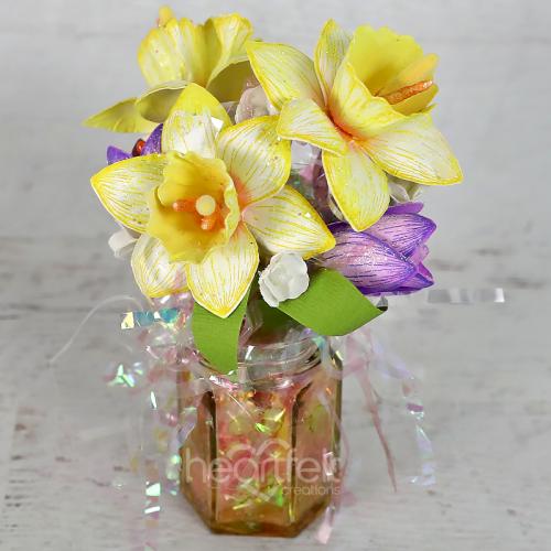 Jarred Daffodil Bouquet