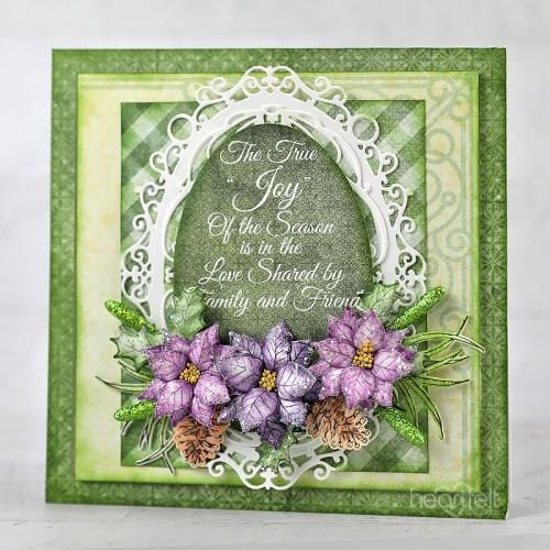 Joyful Lavender Poinsettias
