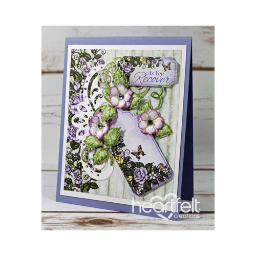 Lavender Rose And Tag Card