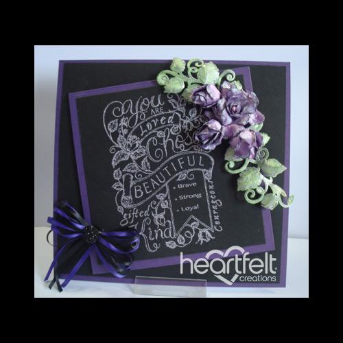 Lavender Rose Chalkboard Background