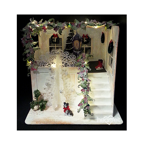 Lighted Holiday Home