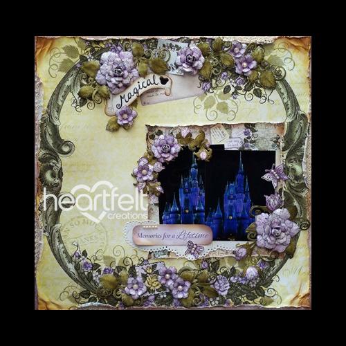 Magical Lavender Rose Layout