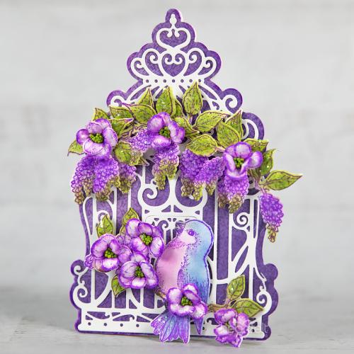 Majestic Violet Bird Cage