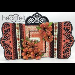 Orange Lilies Flip Fold Card