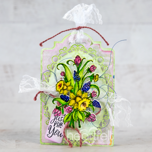 Ornate Floral Tag Card