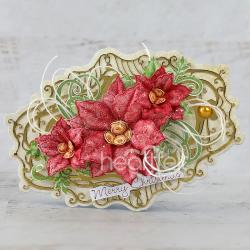 Oval Poinsettia
