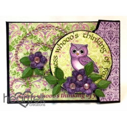 Owl Flip Fold Tag Card Holder