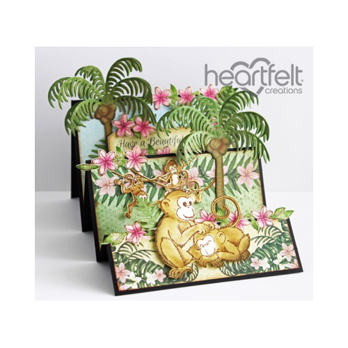 Palm Trees And Monkeys Flipfold Card