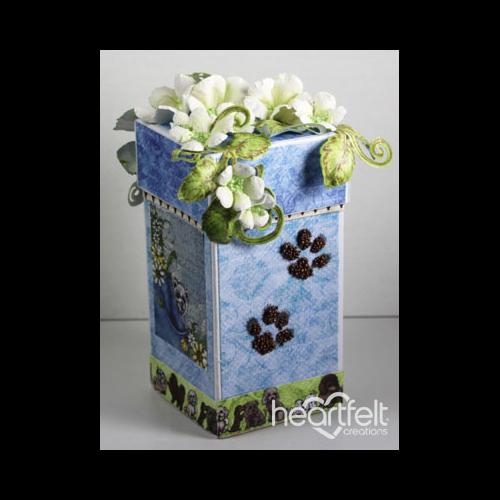 Paw Print Floral Gift Box
