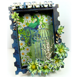 Peacock Shadow Box