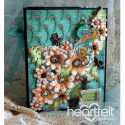 Peacock Paisley Flip Fold Album