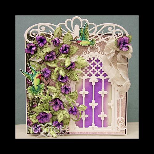Petunia And Hummingbird Window