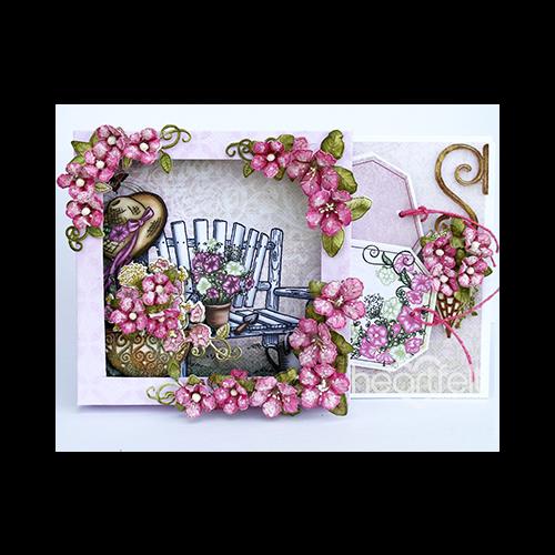 Petunia Bench Shadowbox Card