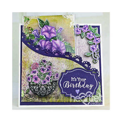 Petunia Shaker Card