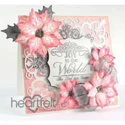 Pink And Silver Poinsettias