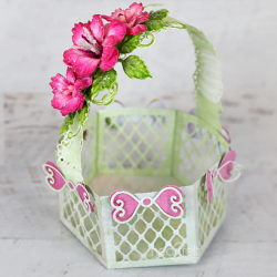 Pink Rose Gift Basket