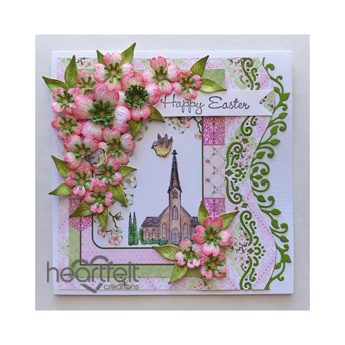 Pink Dogwood And Church