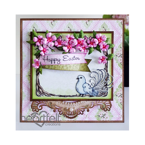 Pink Dogwood And Dove Card