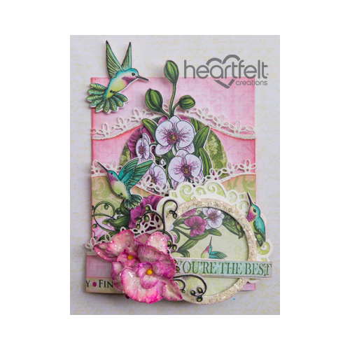 Pink Orchid Foldout Card