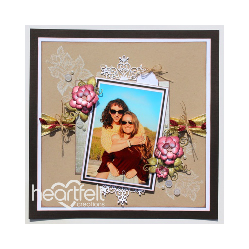 Pink Rose And Lace Layout