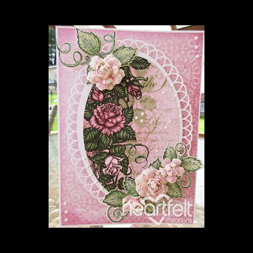 Pink Rose Oval