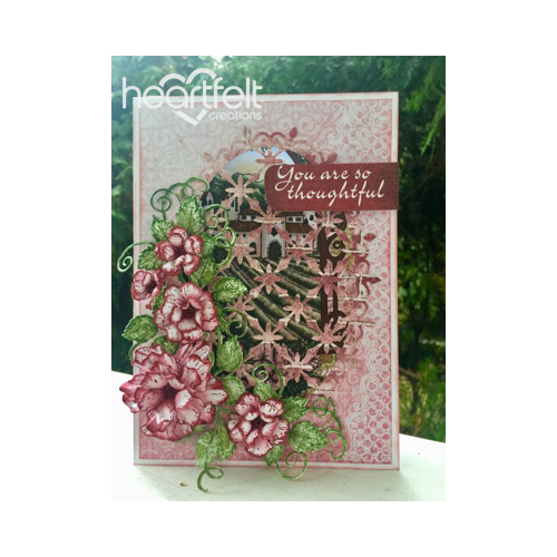Pink Rose Window Card