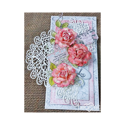 Pink Roses And Medallions