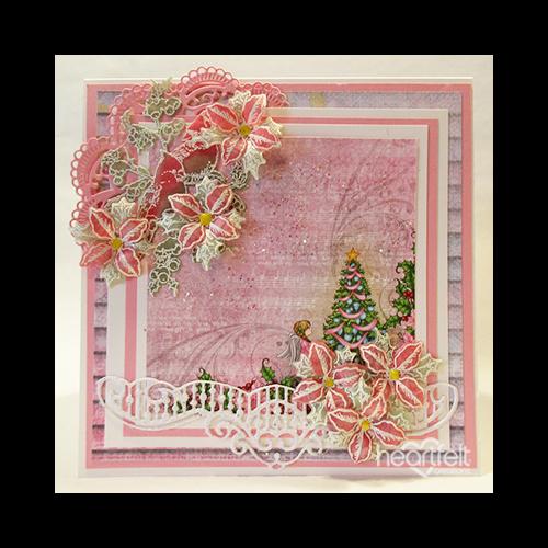 Pink Winter Poinsettias