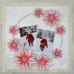 Poinsettia and Wreath Layout