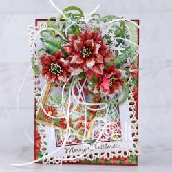Poinsettia Tag and Frame