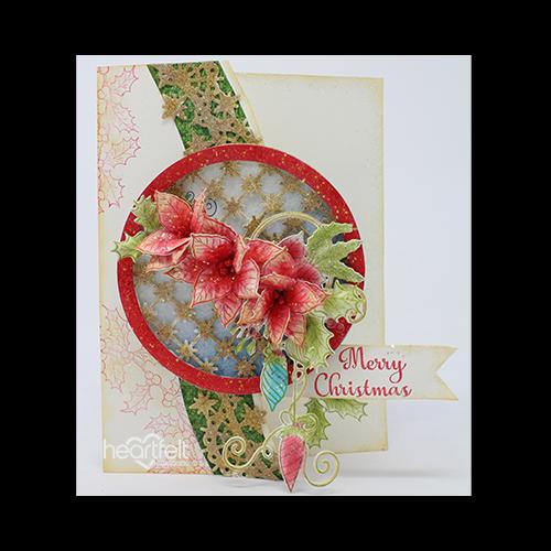 Poinsettia Ornament Border