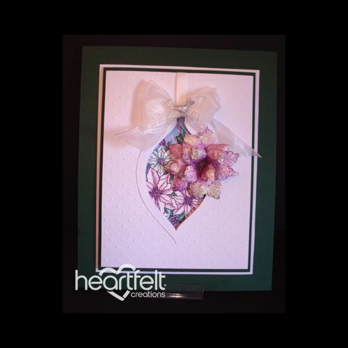 Poinsettia Ornament Card