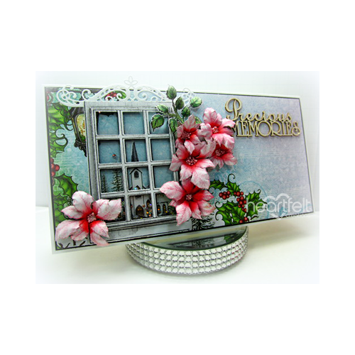 Poinsettia Shaker Window