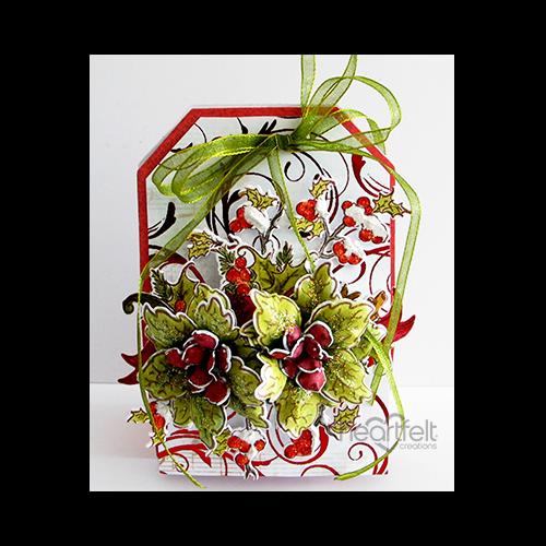 Poinsettia Tag Box
