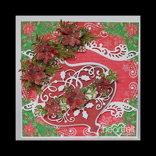 Poinsettias and Pinecones