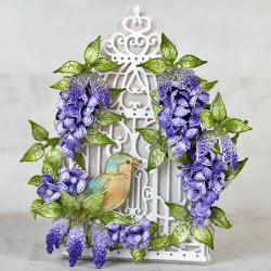 Purple Wisteria Birdcage
