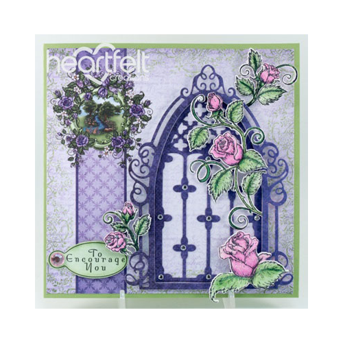Purple And Pink Rose Window