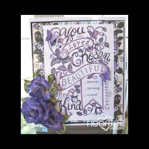 Purple Blushing Rose Background
