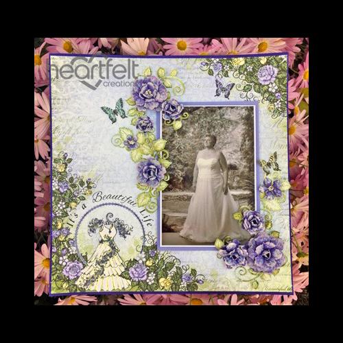 Purple Blushing Rose Wedding Layout