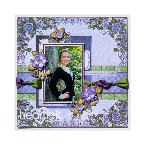 Purple Classic Rose Layout