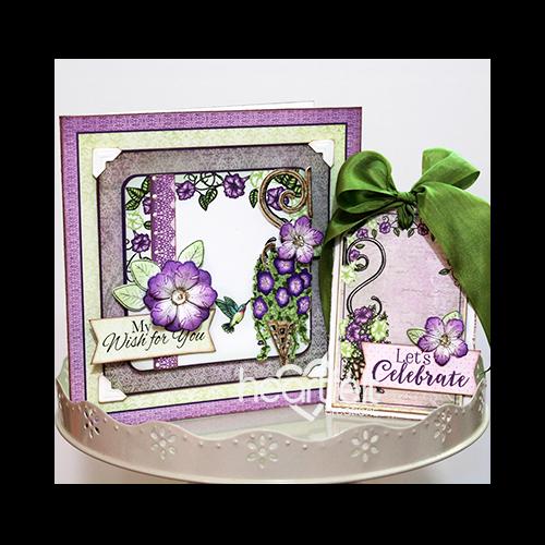 Purple Petunias & Tag