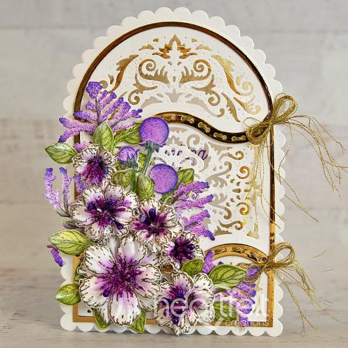 Purple and Gold Flourish